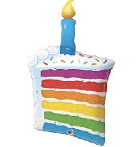 "Rainbow Birthday Cake 38"""