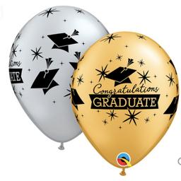 Congrats Grad printed Gold_Silver latex