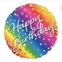 "18"" Rainbow Happy Birthday"