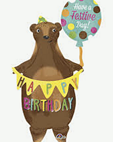 """Happy Birthday Bear 40"""""""