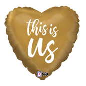 """18"""" gold this is us heart"""