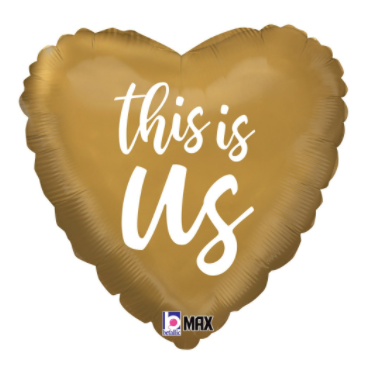 "18"" gold this is us heart"