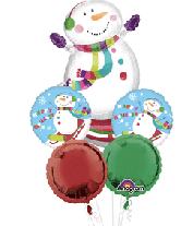 """Snowman Bouquet 18"""""""