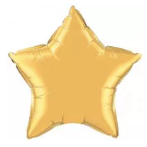 "18"" Foil Star, available 30"""