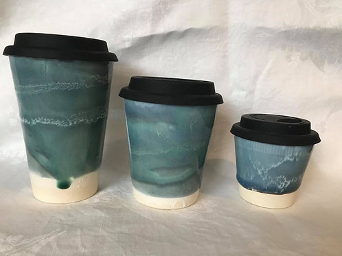 Deep Ocean Green Travel Mugs