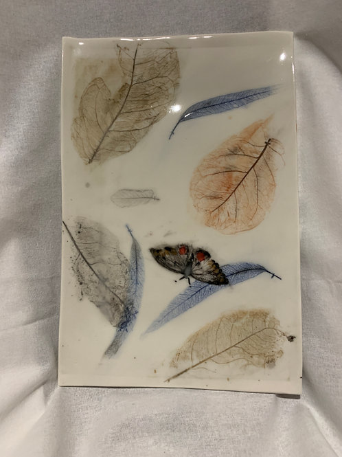 Leaf and Butterfly Rectangular Platter