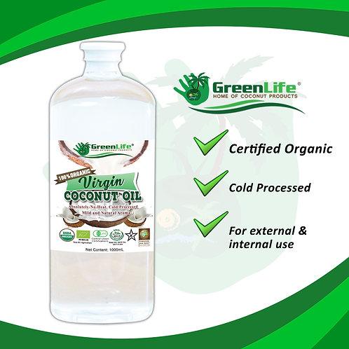 100% Organic Virgin Coconut Oil 1000ml