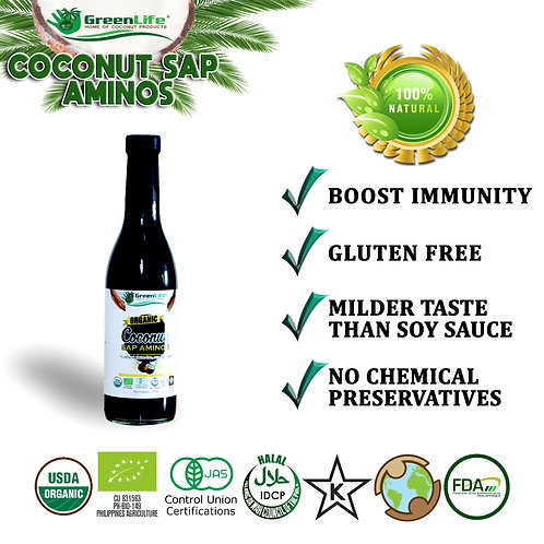 Organic Coconut Sap Aminos 375ml