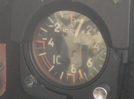 7.3 on the G-meter confirms Lt. Headrick's qualification for the Warbirds of Delaware 7G Club