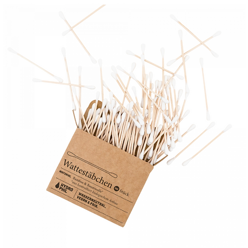 Cotton buds made of bamboo & organic cotton - 100 pieces