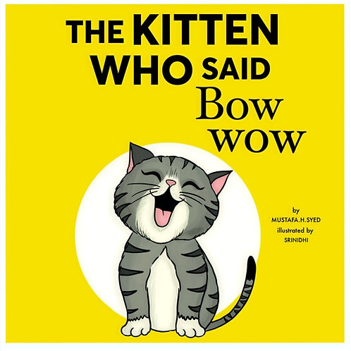 The Kitten Who Said Bow-Wow ( Your Personalised Colouring Storybook)