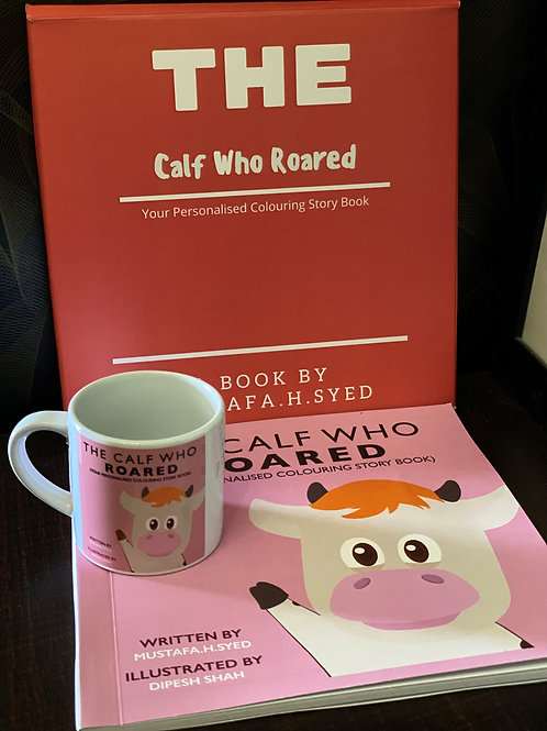 The Calf Who Roared (Your Personalised Colouring Storybook) Gift Set