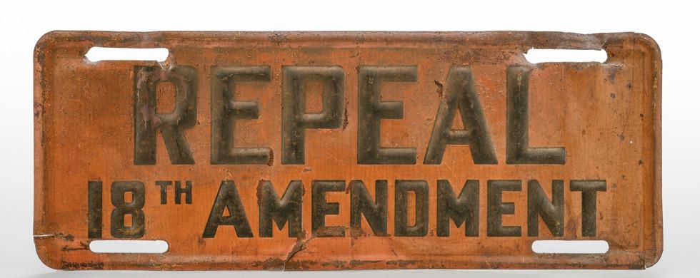Repeal the 18th Amendment auto license p