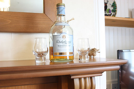 Enjoy a dram from the local distillery