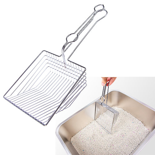 Cat Huge Litter Scoop, Stainless Steel  All Metal Deep Shovel