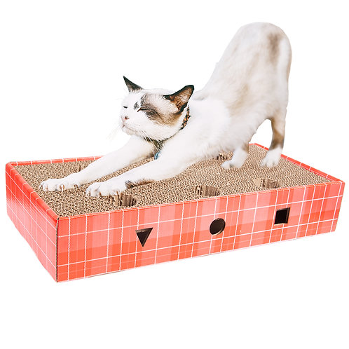 Cat Scratching Pad with Toy Ball Rolling in Holes
