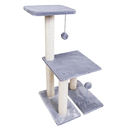76 cm Tall Sisal Cat Tree with Toy Ball