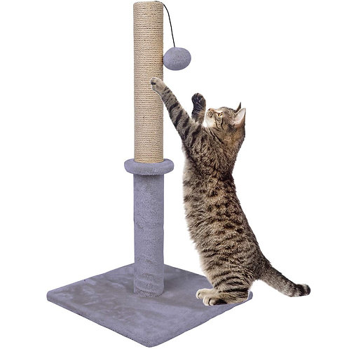 74 cm Tall Sisal Cat Scratching Post with Toy Ball