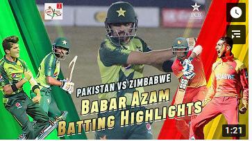 پاکستان نے زمبابوے کو پہلے ٹی 20 میچ میں چھ وکٹوں سے شکست دے دی