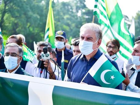 وزیرخارجہ مخدوم شاہ محمود قریشی کی قیادت میں یوم استحصال کشمیر ریلی