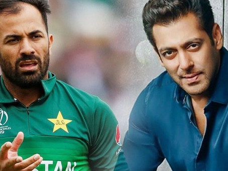 فاسٹ باﺅلر وہاب ریاض بھارتی فلم اسٹار سلمان خان کی ٹیم کا حصہ بن گئے