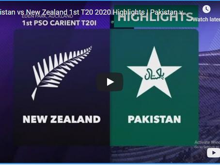 نیوزی لینڈ نے پاکستان کو پہلےٹی 20 میچ میں شکست دے دی