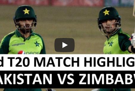 پاکستان نے زمبابوے کو دوسرے ٹی 20 میچ میں آٹھ وکٹوں سے شکست دے دی