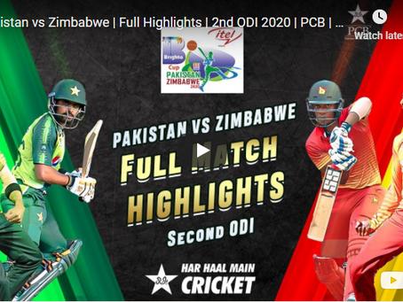 پاکستان نے دوسرے ون ڈے میں بھی زمبابوے کو شکست دے دی
