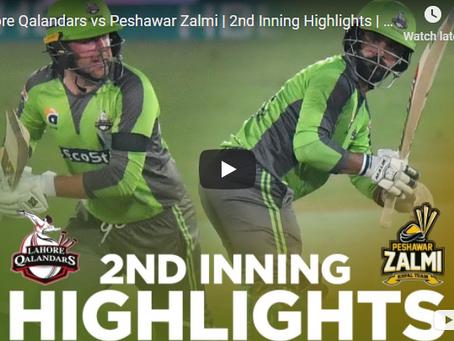 محمد حفیظ کی شاندار بلے بازی ،لاہور قلندرز نے پشاور زلمی کو شکست دے دی