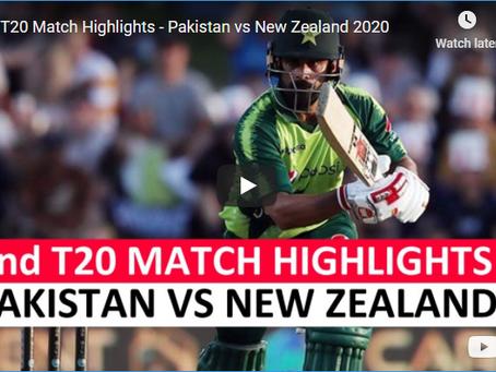 پاکستان کو  نیوزی لینڈ کے خلاف دوسرے ٹی 20 میچ میں بھی  شکست