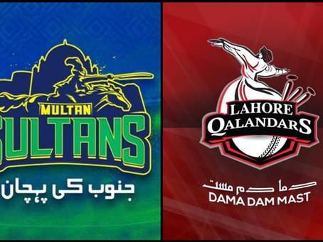 پی ایس ایل فائیو ، ملتان سلطان اور لاہور قلندر کے درمیان  میچ آج کھیلا جائے گا