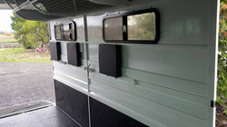 Full width inside and adjustable bay