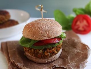 White Bean & Farro Veggie Burgers