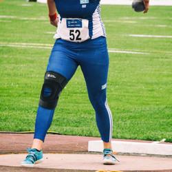 "9.5"" Adjustable Strengthen Open Patella Knee Support/S-Stays"