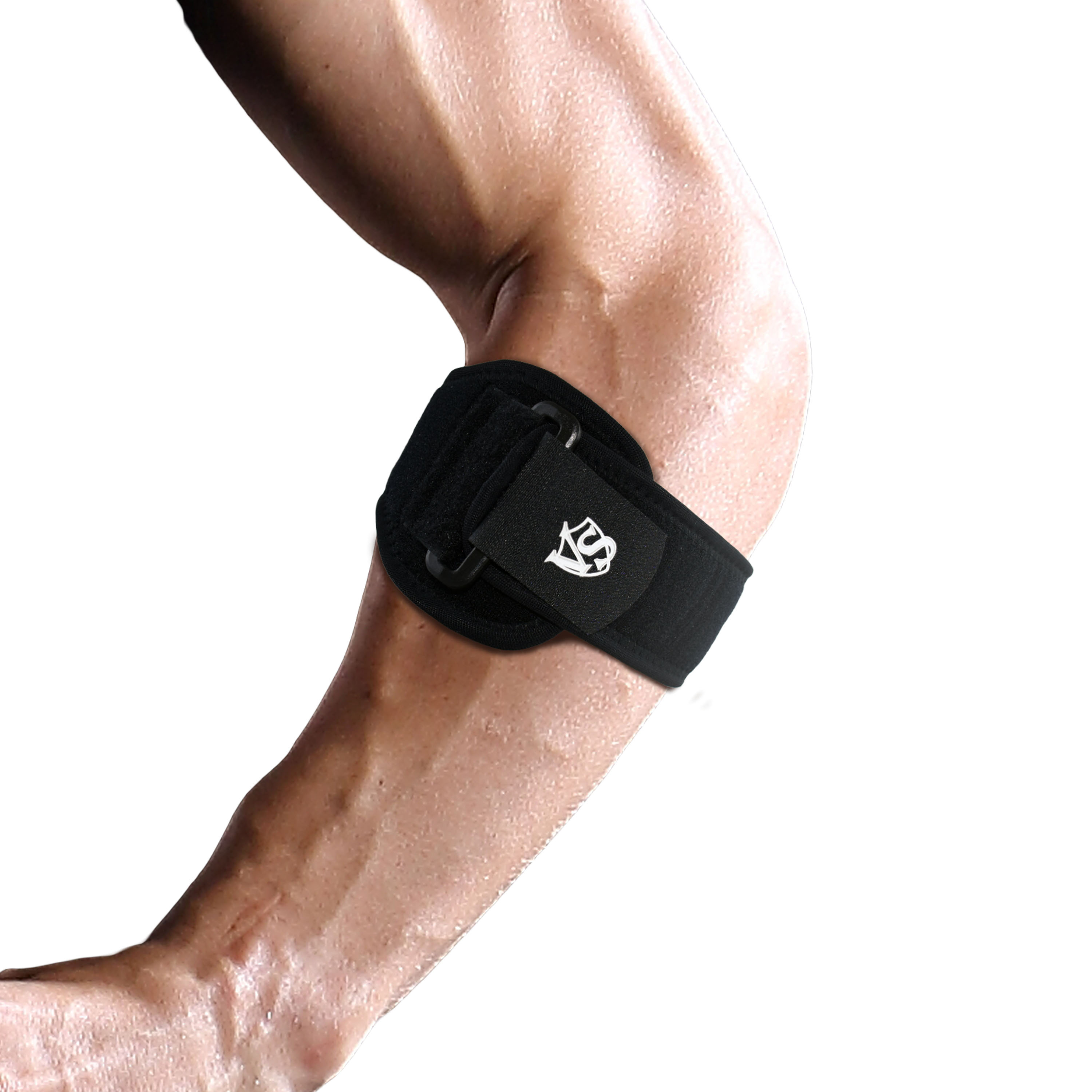Compression Pad Elbow Brace with Adjustable Strap