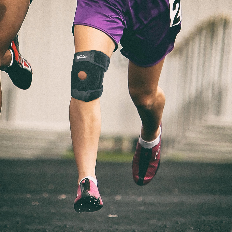 "7.5"" Adjustable Strengthen Open Patella Knee Support/S-Pro Pad"