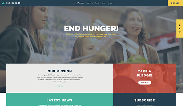 Religión y ONG website templates – Food Charity