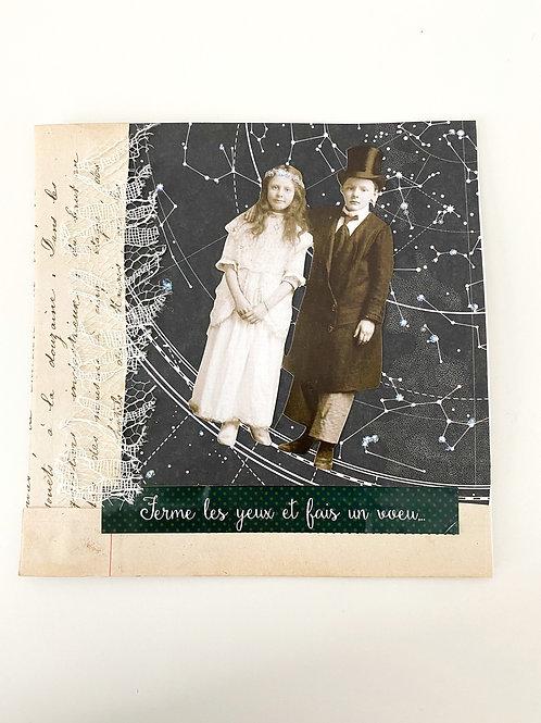 Illustration collage Jeunes Mariées