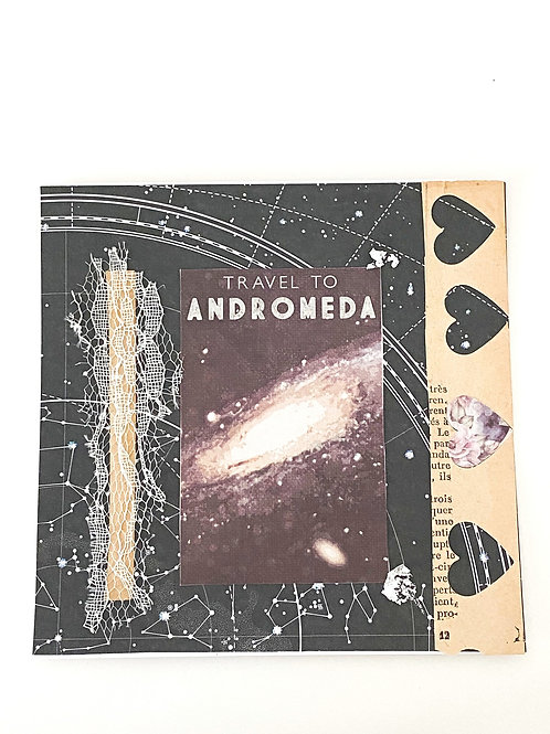 Illustration collage Travel to Andromeda