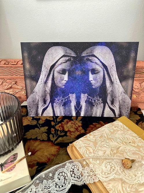 Illustration  Vierge mystique