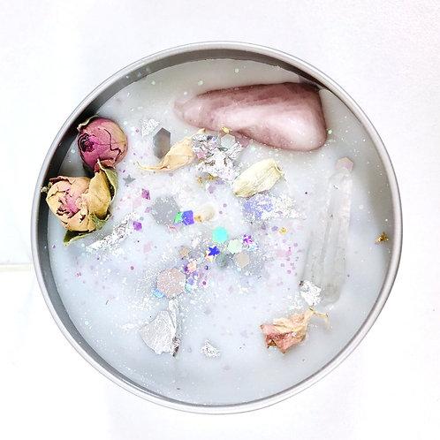 Moon Candle Cashmeere and Silk Scent / Semi Precious Stone