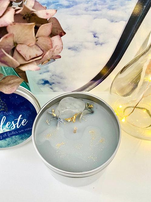 Bougie Parfumée Céleste Senteur Poudrée Cristal de Roche