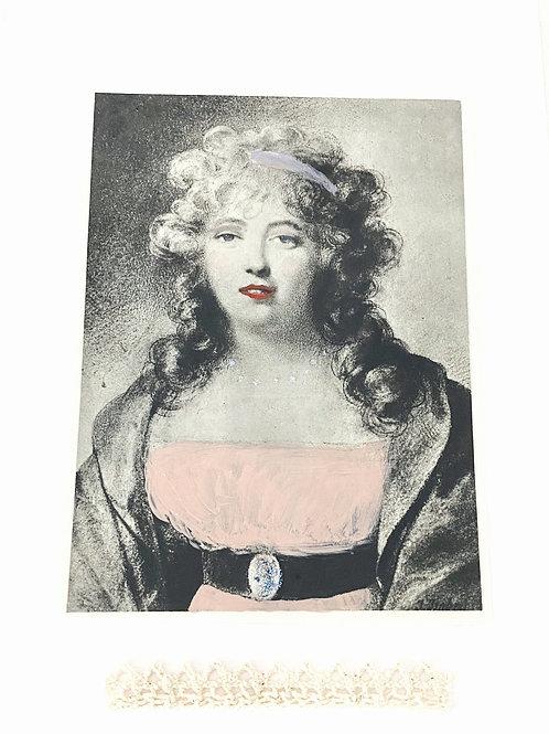 Illustration collage courtisane XVIIIe