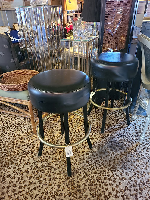 Black Leather top Barstools