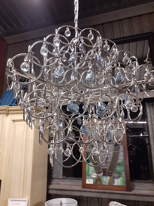 Crystal and Oyster Shell Chandelier