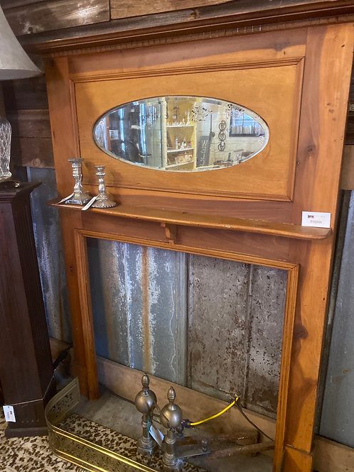 Antique Mantle with Beveled Mirror