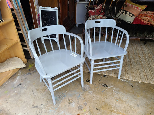 Grey Wooden Side Chairs