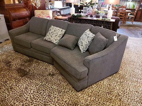 Grey Cuddler Sofa