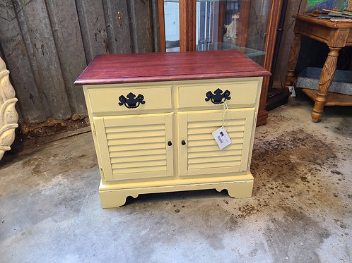 Side Table Painted Yellow