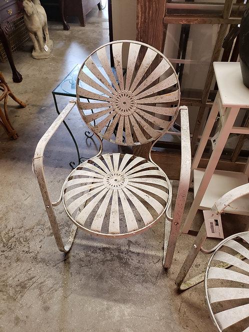 Sunburst Iron Chair